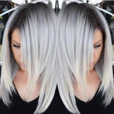 Color For Gray Hair Enhancing Stunning Multidimensional Silver Hair Color Design With Dark