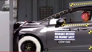 small car crash test honda civic safe kia forte fails videos