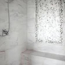 carrera marble shower carrara marble shower transitional bathroom