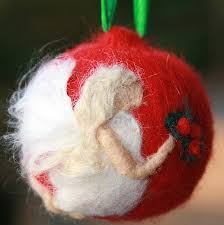 needle felted ornament shabtai flickr