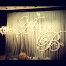 big initials for backdrop wedding receiption backdrop hk