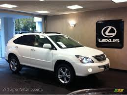 lexus rx 400h used car sale 2008 lexus rx 400h awd hybrid in crystal white photo 2 064666