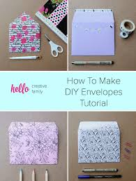 how to make envelopes how to make diy envelopes tutorial hello creative family