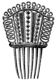 vintage comb royalty free images hair combs the graphics fairy