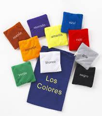 colores spanish colour bean bags