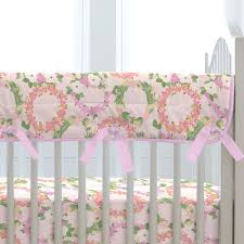 Pink And Brown Damask Crib Bedding Pink Floral Wreath Crib Bedding By Carousel Designs Nursery