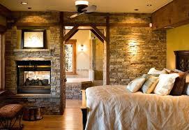 Rustic Lodge Bedroom Rustic Master Bedroom With Home Decorators