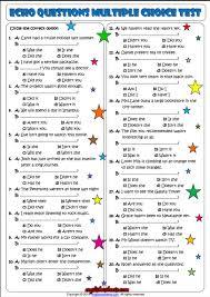 echo questions multiple choice esl exercise worksheet esl