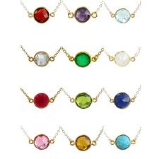 necklace with birthstones for birthstone necklaces kris nations