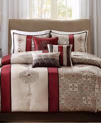 Jacquard Bed Set Park Donovan 7 Pc Medallion Jacquard Comforter Set