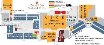 Omaha Nebraska Map Ramada Plaza Omaha Hotel And Convention Center Map Website Baymont