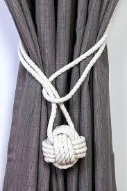 Diy Curtain Tiebacks Curtain Tie Back Curtain Tiebacks Cotton Rope Monkey Knot Tie