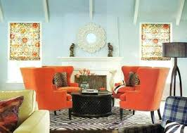 blue and orange decor blue and orange decor living blue living room with orange chairs and