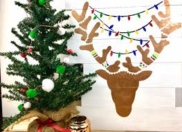 wooden reindeer stencil art southern couture