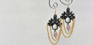 make dangle earrings tutorial on how to make a pair of handmade dangle seed beaded