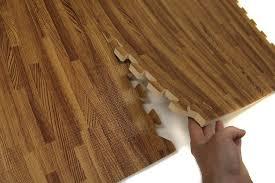 faux wood interlocking flooring tiles trade joe