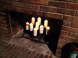 candles in fireplace alternative ideas to a fire in a fireplace candles in fireplace