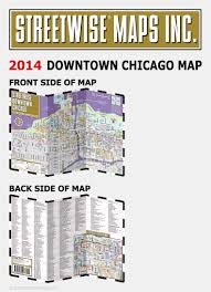 Map Chicago Metro by Streetwise Downtown Chicago Map Laminated Street Map Of Downtown