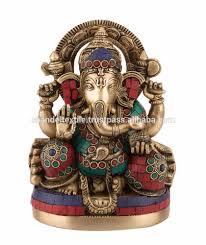 ganesh idol statue ganesha ganpati new sculpture brass turquoise