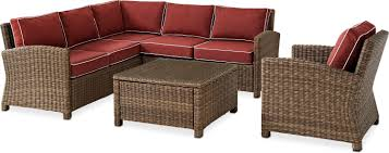Outdoor Coffee Table Set Destin 3 Piece Outdoor Sectional Chair And Cocktail Table Set