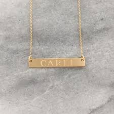 necklace with name engraved best personalized horizontal bar necklace products on wanelo