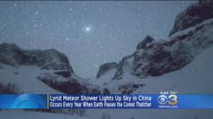 Meteor Shower Lights Lyrid Meteor Shower Lights Up Sky In China Cbs Philly
