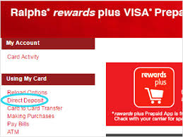 prepaid cards with direct deposit prepaid cards with direct deposit ralphs rewards plus prepaid