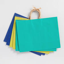 blue gift bags large blue kraft gift bags set of 6 world market