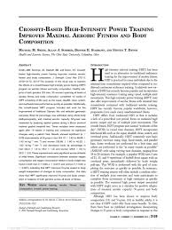 2013 crossfit based high intensity power training improves maximal