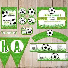 Soccer Theme Party Decorations Safari Birthday Party Kit Printable From Printablemiracles On