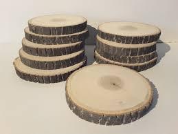 6 6 tree slices 10 poplar wood slices rustic craft wood wedding or home decor