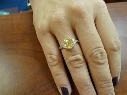 10000 engagement ring 3 73 carat fancy yellow diamond ring 3 carat center