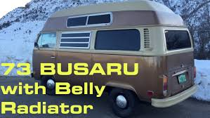 volkswagen vanagon 79 73 busaru with belly radiator youtube