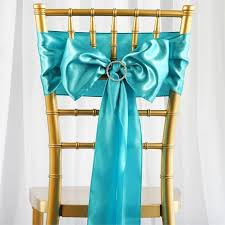 turquoise chair sashes satin chair sash 6x106 turquoise 5pcs efavormart