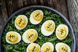 football deviled eggs everyday thinking