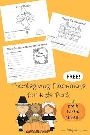 thanksgiving placemats color sheets free printable pink casa