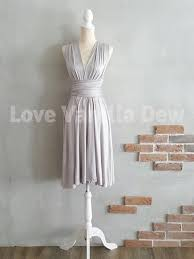 light grey infinity dress bridesmaid dress infinity dress straight hem light grey knee length