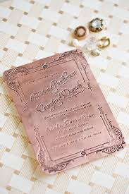 wedding invitation plate keepsake custom pressed copper invitation by southern fried paper custom