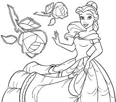 disney princess belle coloring pages kids 785 princess belle