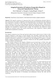 www gray integrity evaluation of customs cooperation based on gray and