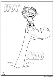 good dinosaur coloring pages free printable spot arlo magic