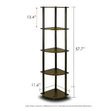 sauder corner bookcase furinno 99811ex bk 5 tier corner rack display shelf dark espresso
