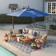 Patio Umbrellas With Stands by Belham Living 13 Ft Rotating Offset Umbrella With Tilt And Base