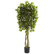 nearly natural 5 5 ft uv resistant indoor outdoor ficus tree 5380