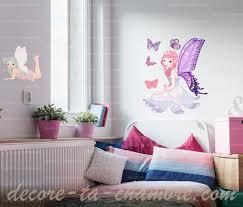 chambre fee sticker fée elfe pour chambre fille vente stickers fées elfes pour