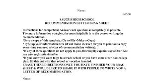Brag Sheet Template For Letter Of Recommendation Brag Sheet Template Doc Docs