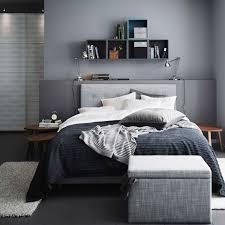 man bedroom a grey bedroom with a grey årviksand divan bed a grey tusensköna
