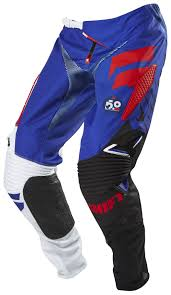 blue motocross boots shift faction pants revzilla