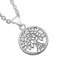 personalized charms bulk personalized stainless steel bodhi tree circle charm pendant