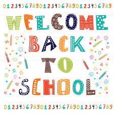 welcome back to school greeting card back to school design stock